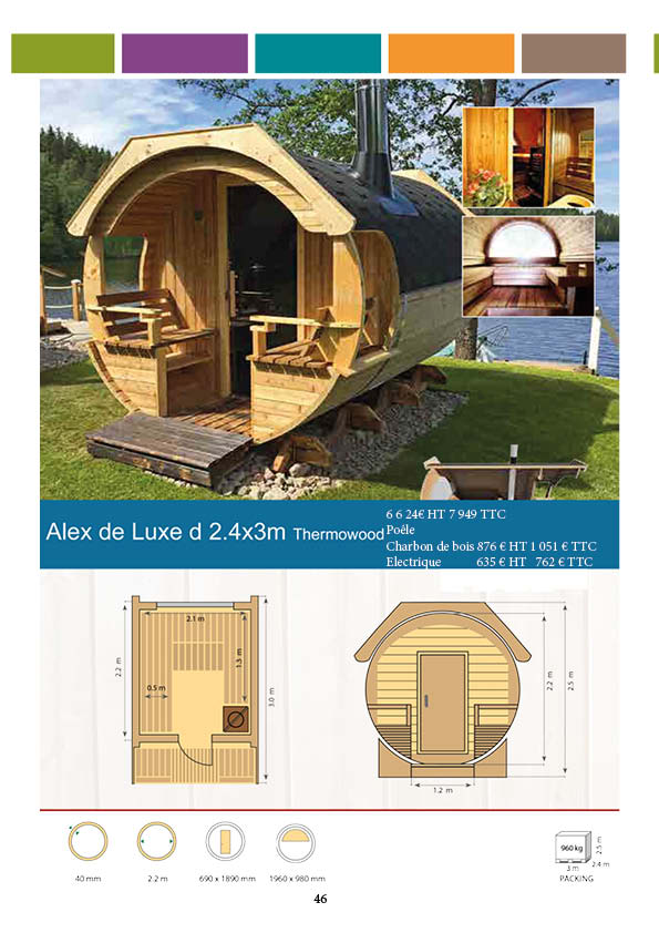 Sauna tonneau Alex Luxe