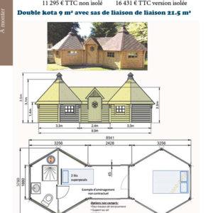 Double kota 9 m²