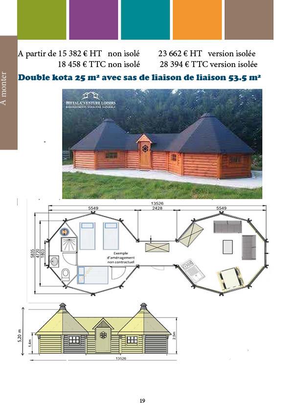 Double kota 25 m²