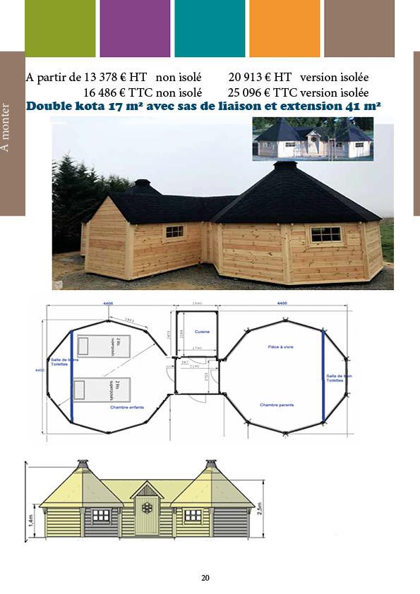 Double kota 17 m² avec extension
