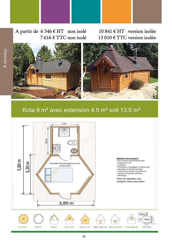 Kota 9 m² avec extension
