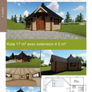 kota 17 m² avec extension