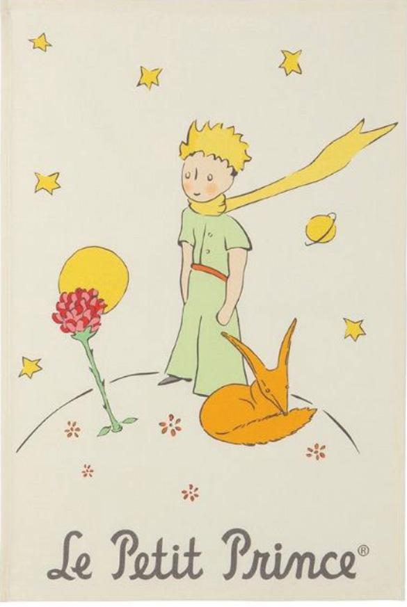 Torchon Petit Prince fleur